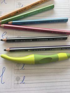 Schrijfmateriaal en oefeningen